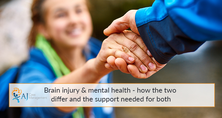 difference between mental illness and brain injury